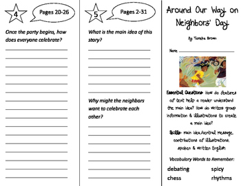 Around our Way on Neighbors' Day Trifold - ReadyGen 3rd Gr
