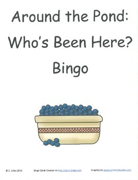 Around the Pond: Who's Been Here? Bingo Game ~ Language Ar