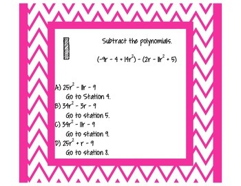 Around the Room - Adding/Subtracting/Multiplying Polynomials