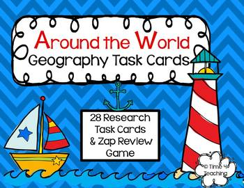 Around the World Geography Task Cards