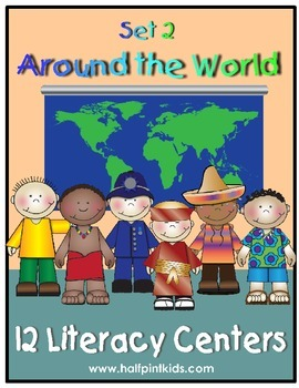 Around the World Literacy Centers: Half-Pint Readers Set 2