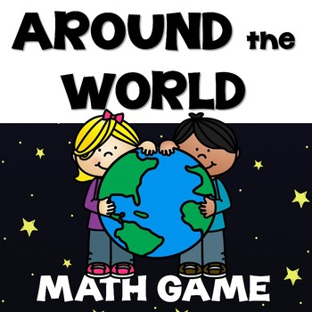 Around the World Math Game - Place Value, Addition & Multi