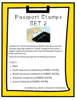 """Around the World"" Passport Stamps SET 2 (Add-On)"