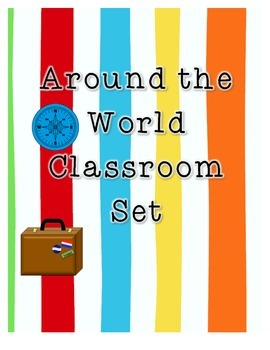 Around the World Travel Themed Classroom Set