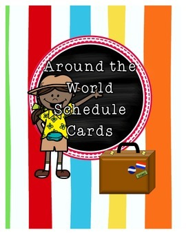 Around the World Travel Themed Schedule Cards