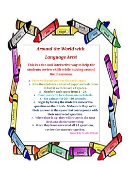Around the World with Language Arts