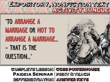 Arranged Marriage: EXPOSITORY, NON FICTION Text, Questions