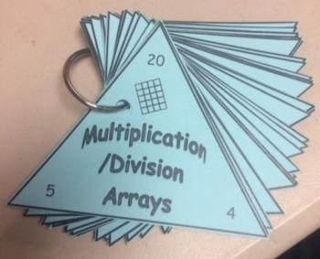 Array Multiplication Flash Cards