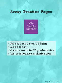 Array Practice Pages