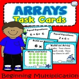 90 Multiplication Array Task Cards with Recording Sheet OC