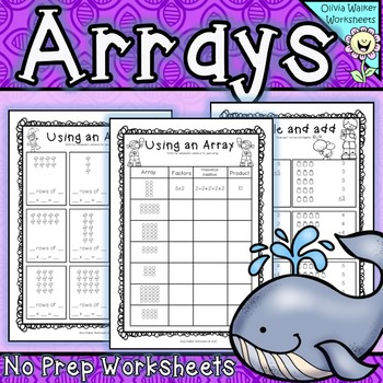 Arrays Worksheets - Grade Two Math Standard - First Multip