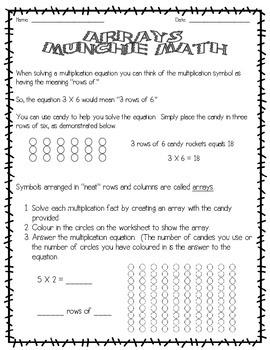 Arrays Munchie Math
