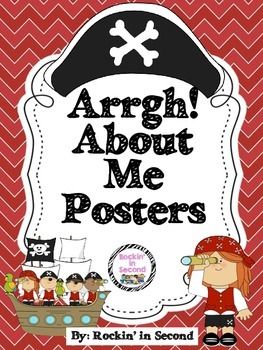 """""""Arrgh"""" (All) About Me Pirate Posters"""
