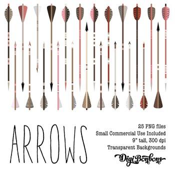 SALE- Arrow Clipart Set, Transparent Backgrounds