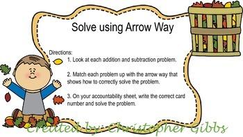 Arrow Way Double Digit Addition