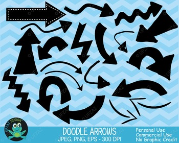 Arrows Clipart, Arrows and Pointers, Arrow Icons, Doodle A
