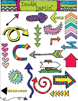 Arrows Color Clipart Set