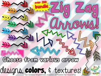 Arrows Variety Pack - Zig Zag {Passion For Teaching Digita