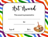 Bundle of Art Award Certificates