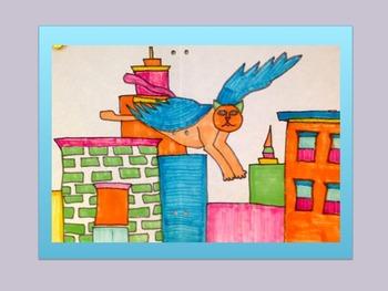 Art!!! Catwings Watercolor Directed Drawing/Art