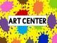 Class Decor: Art Center Posters