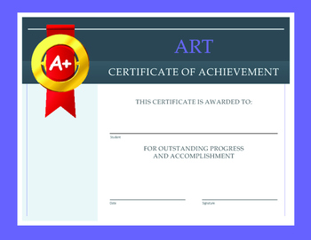 Art Certificate of Achievement