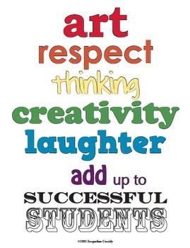 Art Class Motto Poster