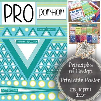Art Classroom Decor: Principle of Design, Proportion, Prin