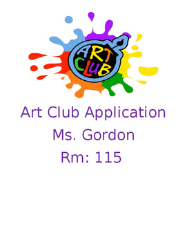 Art Club Application