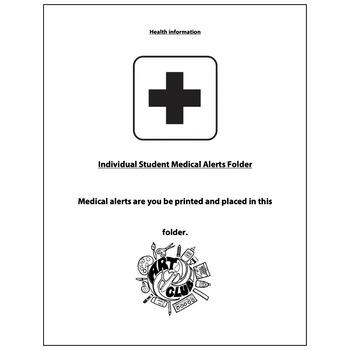 Art Club Health Information Form - Visual Arts Club Elemen