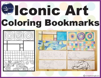 Art Coloring Bookmarks