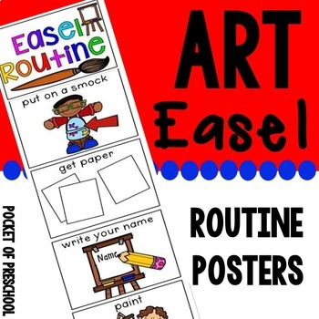 Art Easel Routine for Preschool, Pre-K, and Kindergarten by Pocket of Preschool