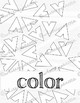Art Education: Elements of Art Coloring Book, Worksheets