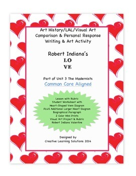 Comparative Writing & Art Activity: Robert Indiana LOVE fo