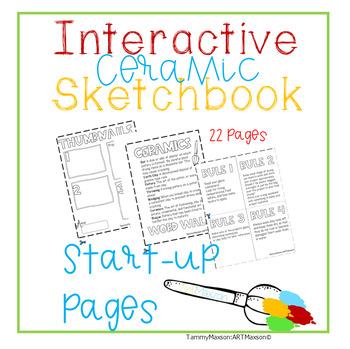 Art Interactive Notebook / Sketchbook Ceramics Back to Sch