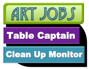 Art Jobs Printable Sign (PDF) IMPROVED 2016!