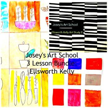 Art Lessons Ellsworth Kelly 3 Lesson Bundle K-6 Art Projec