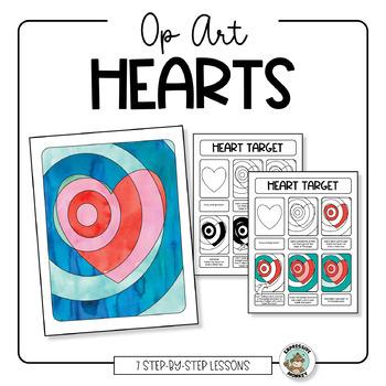 Art Lesson: Op Art Hearts
