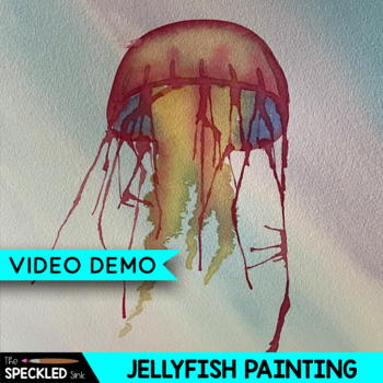 Elementary Art Lesson Plan. Painting with Line. Jellyfish