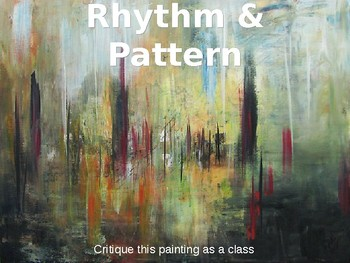 Art Lesson Powerpoint based on Rhythm & Pattern (2 differe