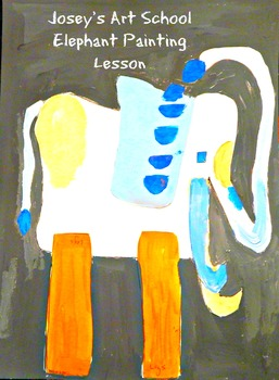 Art Lesson Teach Collage Art to K - 6th Elephant Collage A
