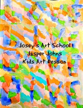 Art Lesson Teach Jasper Johns to 2nd - 5th  Words Art Hist