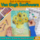 Art Lesson: Van Gogh Sunflowers Art History Game {Art Sub