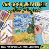 Art Lesson: Van Gogh Wheat Field Art History Game {Art Sub