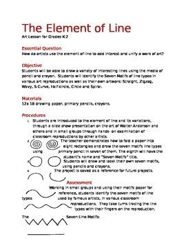 Art Lesson on Line- K-2 grades
