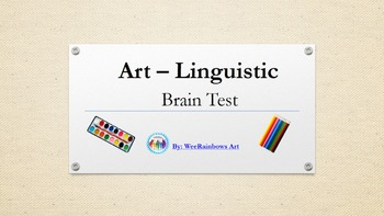 Art - Linguistic Brain Test