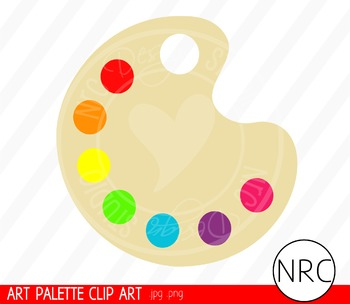 Art Paint Palette Clip Art - Commercial Use Clipart
