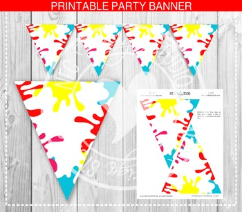 Art Paint Party Banner - Party Printable