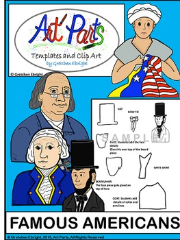 Art Parts: Famous American - Templates and Clip Art