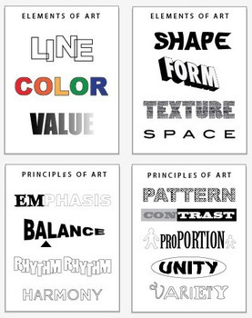 Art Posters: Elements, Principles, Color Theory